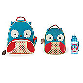 Skip Hop Zoo Pack, Lunch Bag and Straw Bottle Set Owl