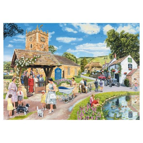Ravensburger Escape to the Country - The Sunday Service, 1000 Piece Puzzle