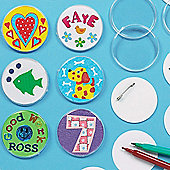 Children's Crafts Design A Badge (Pack Of 10)