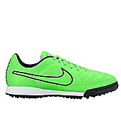 Nike JR Tiempo Genio Leather TF Astro Turf Trainers - Green Strike - Green