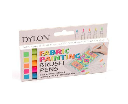 Dylon Fine Tip Pens - 5 Fluorescent Colours