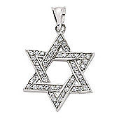 Jewelco London Rhodium-Plated Sterling Silver Charm Pendant