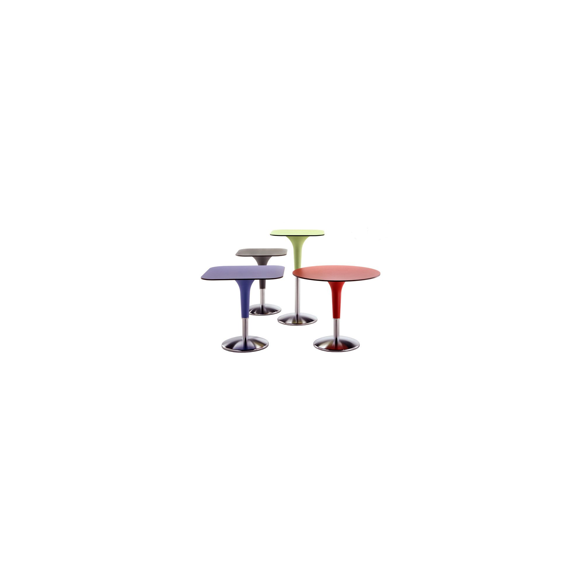 Rexite Zanziplano Square Table - 80cmx 80cm x 105cm - Red at Tesco Direct
