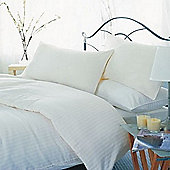 Belledorm 540 Thread Count Hotel Stripe - White - Continental Pillowcase