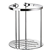 Smedbo Sideline Spare Toilet Roll Holder in Polished Chrome for 2 Toilet Rolls