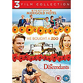 Best Exotic Marigold Hotel, We Bought A Zoo & Descendants (DVD Boxset)