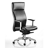 Maestro Solium High-Back Leather Executive Chair - Black