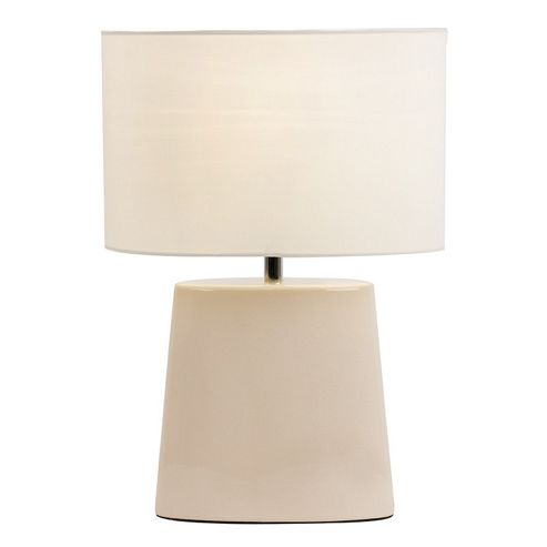 Endon Lighting Ceramic Table Lamp with Crackle Glaze Effect - Cream