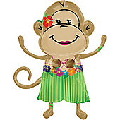 33' Monkey Luau Girl Supershape (each)