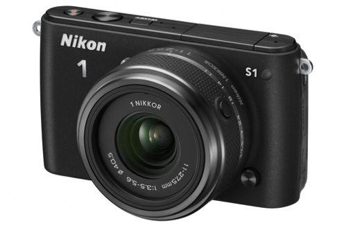 Nikon 1 S1 Digital Camera, Black, 10.1MP, 2.5x Optical Zoom, 3.0 inch LCD Screen