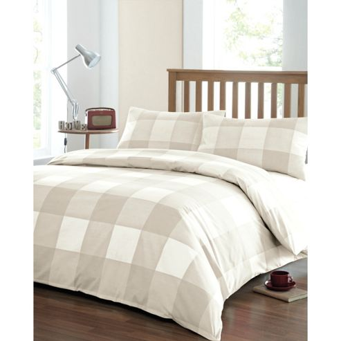 Newquay Double Quilt Cover Set - Natural