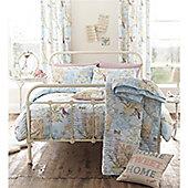 Catherine Lansfield Home Designer Collection Multi Coloured Vintage Postcard Bedspread
