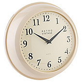 Tesco Kitchen Clock, Cream
