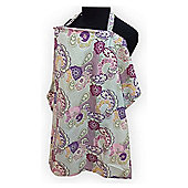 Palm & Pond Large Breastfeeding Cover, Purple Paisley