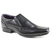 Us Brass Teen Boys Black Drift Slip-on School Shoe