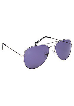 F&F Silver Trim Aviator Sunglasses