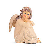 Sitting Glitter Christmas Angel Resin Ornament
