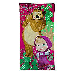 Character Masha and The Bear Printed Beach Towel
