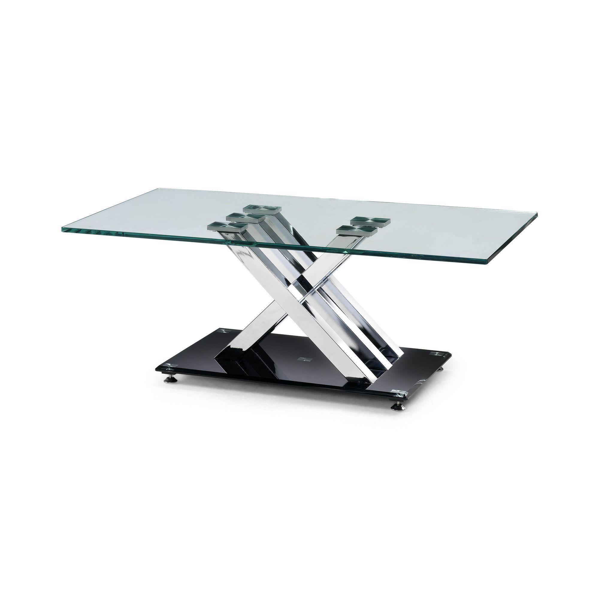 Julian Bowen X-Frame Coffee Table with Glass