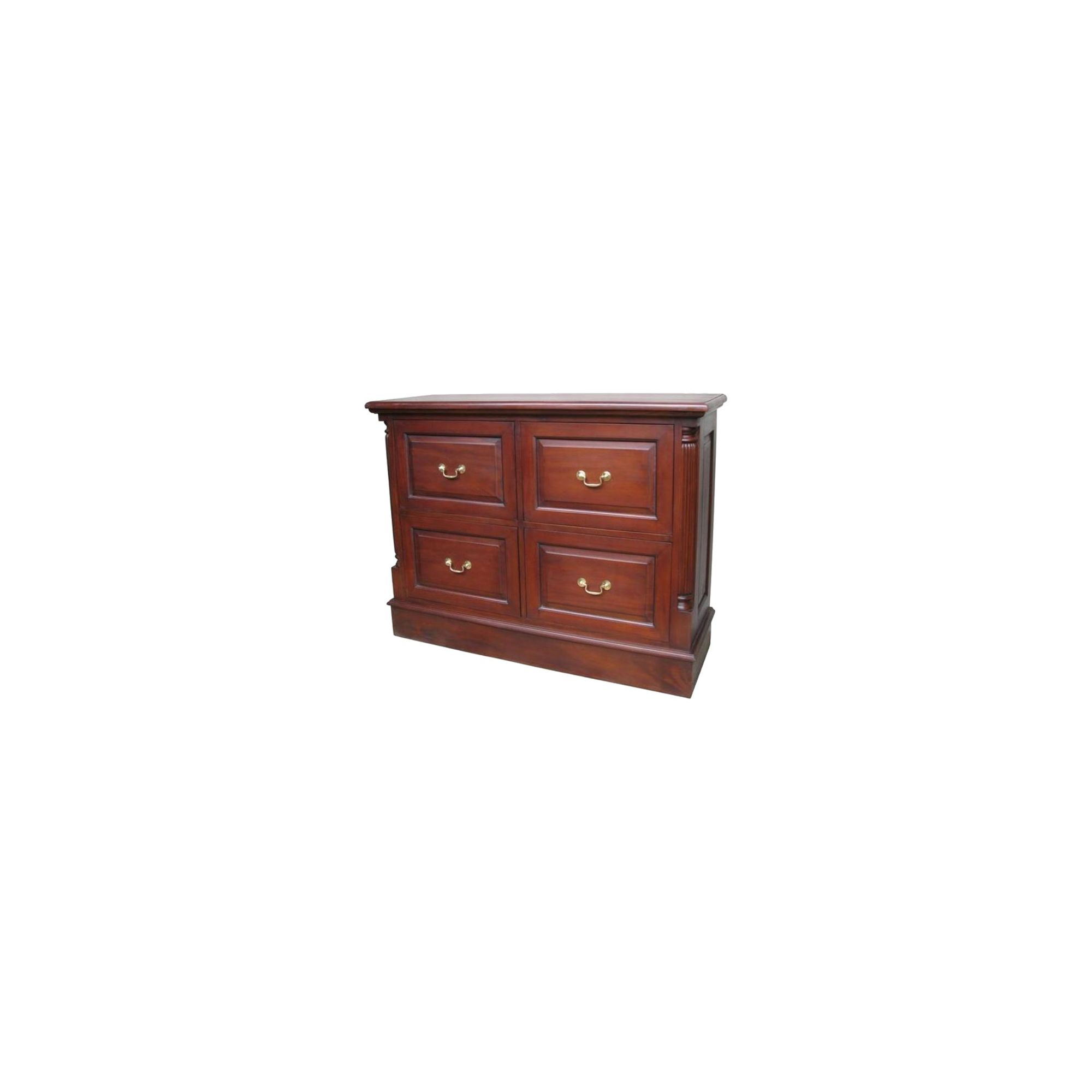 Lock stock and barrel Mahogany 4 Drawer Filing Cabinet in Mahogany at Tesco Direct