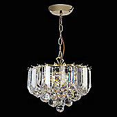 Endon Lighting Small Chandelier in Brass Plated