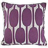 Tesco Cushions Retro Print Cushion, Plum