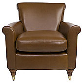 Pemberley Armchair Leather Teak