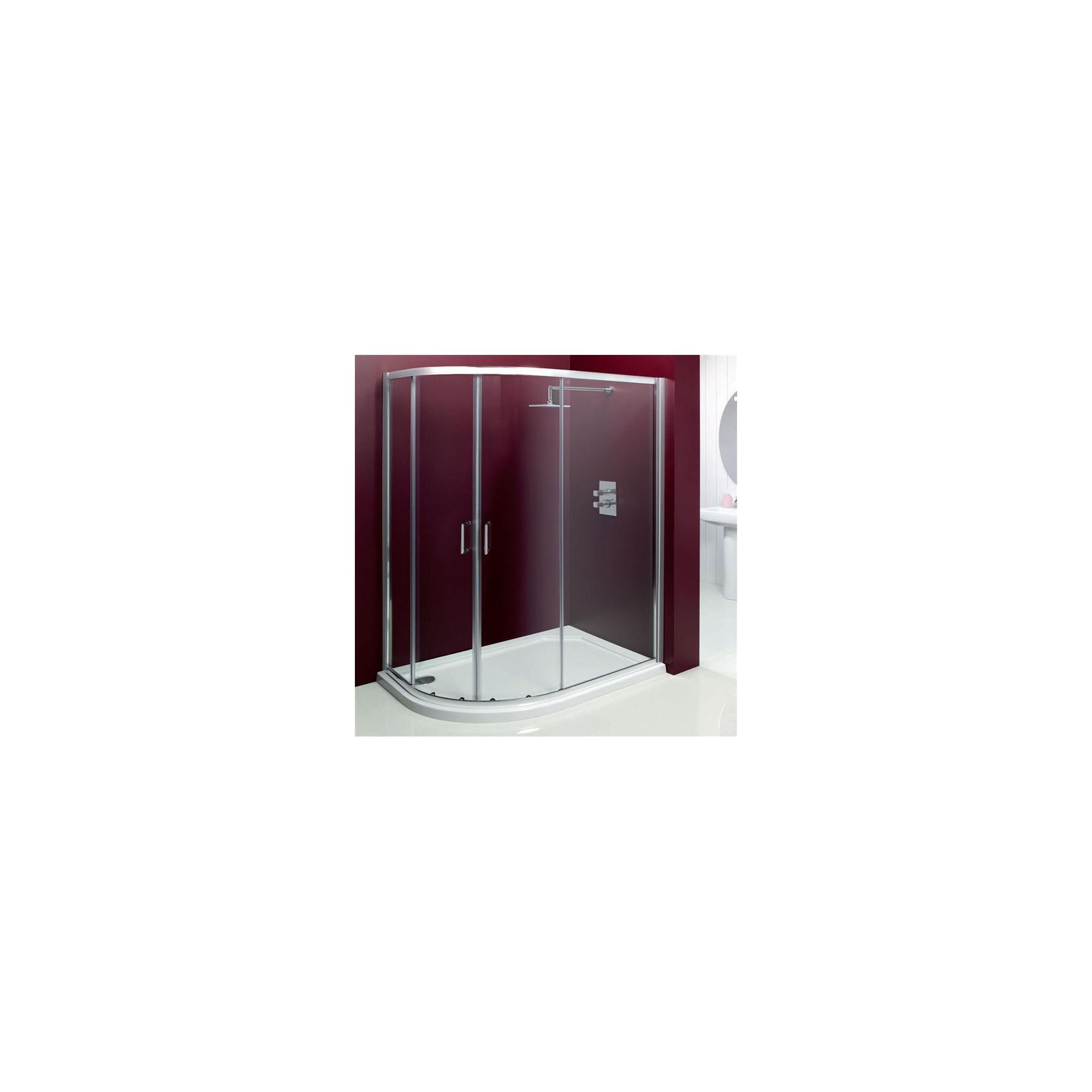 Merlyn Vivid Entree Offset Quadrant Shower Door, 1000mm x 800mm, 6mm Glass at Tesco Direct