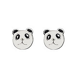 Girl's Panda Bear Face Earrings