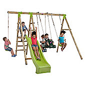 Plum Muriqui Wooden Pole Swing Set