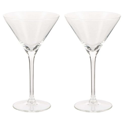 Tesco 2 Pack Of Cocktail Glasses