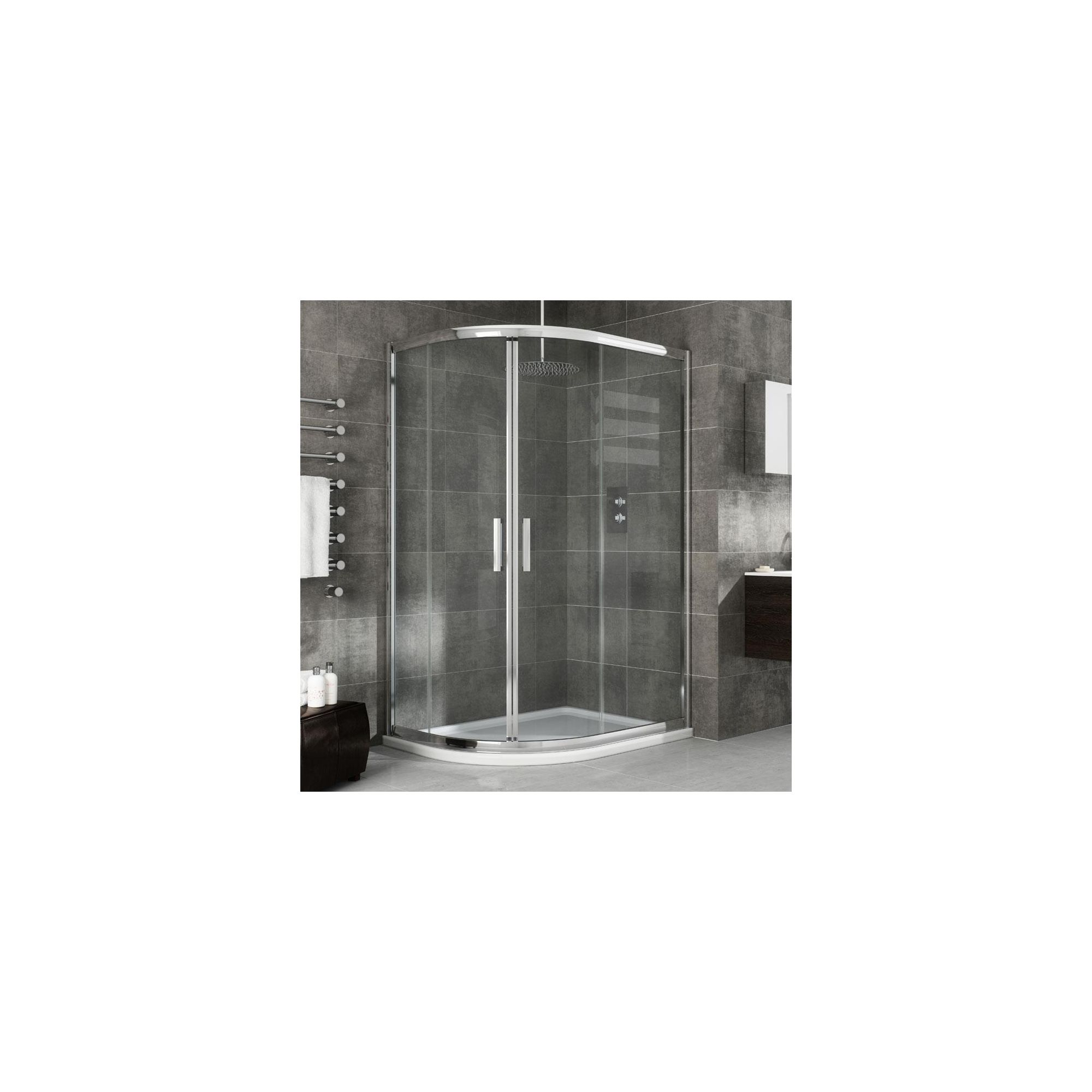 Elemis Eternity Offset Quadrant Shower Enclosure, 900mm x 800mm, 8mm Glass, Low Profile Tray, Right Handed at Tesco Direct