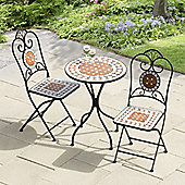 Suntime Karima Diamond Mosaic Cast Iron Bistro Set