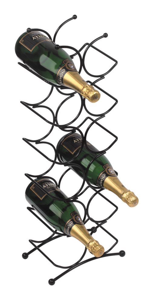 George Wilkinson 12 Bottle Circolare Wine rack - Black