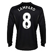 2013-14 Chelsea Away Long Sleeve Shirt (Lampard 8) - Kids - White