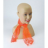 80's Lace Scarf - Orange