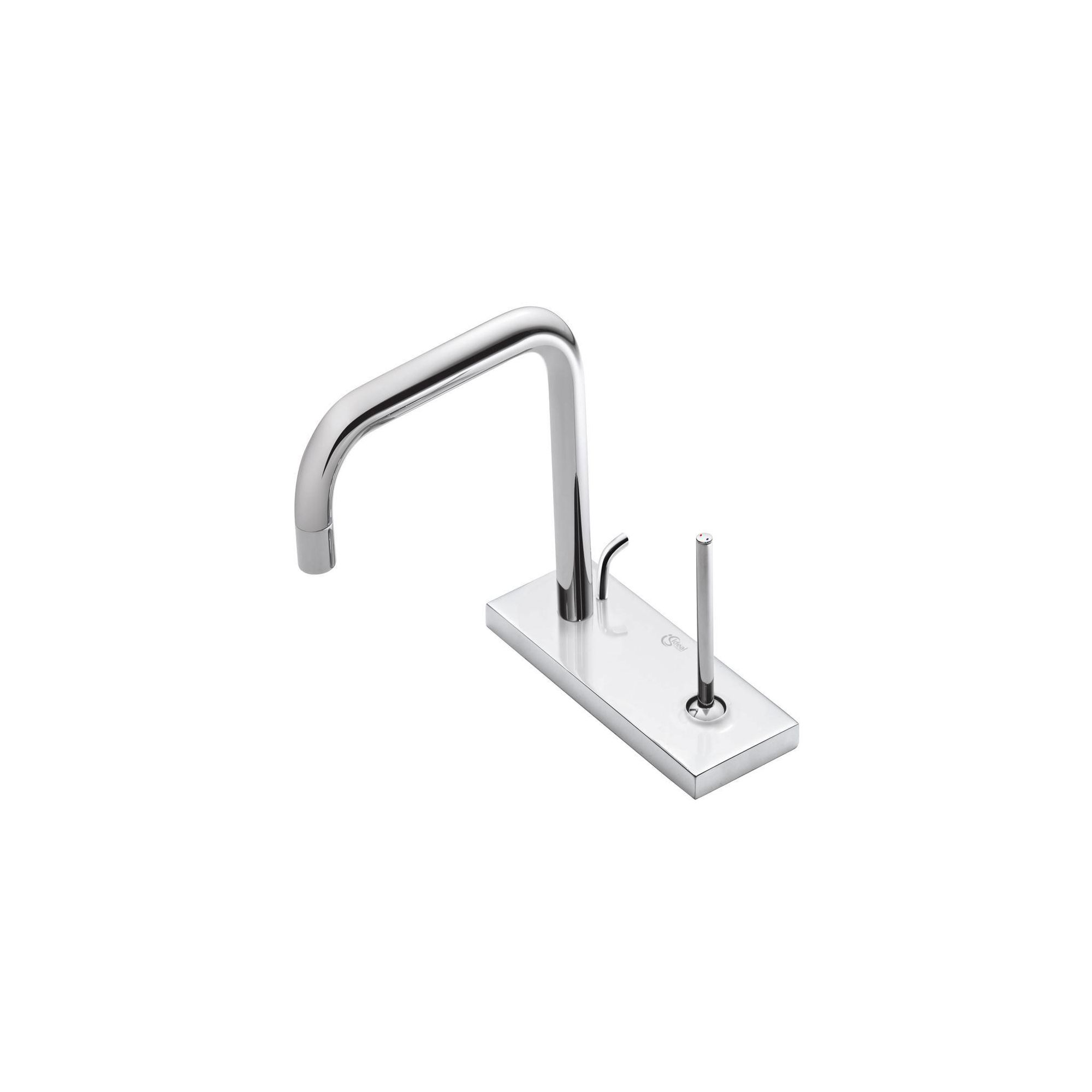 Ideal Standard Simply U 2 Tap Hole Cylindrical Spout Basin Mixer Tap with 1 Rectangular Backplate at Tesco Direct