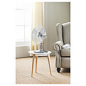 "Tesco 12"" Desk Fan, 3 Speed - Chrome"