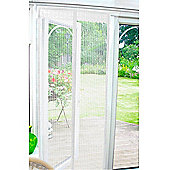 Country Club Magnetic Insect Door Screen 90 x 210cm, White