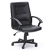 WoodstockLeaBank Amber High Back Executive Leather Chair