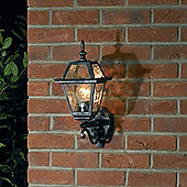 Endon Lighting Wall Lantern in Black/Silver