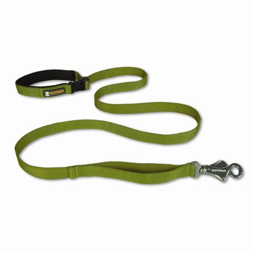 Ruff Wear Flat Out Dog Leash in Forest Green