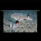 The Snowman, Billy and Snowdog Fly over the Rooftops Illuminated Tapestry