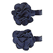Mothercare Young Girls Navy Corsage Croc Clips - 2 Pack
