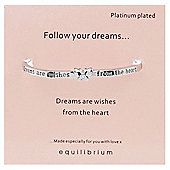 Follow Your Dreams Platinum Plated Bangle