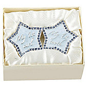Baby's first tooth/curl trinket box, blue