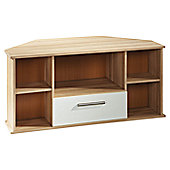 Welcome Furniture Living Room Corner TV Stand - Vanilla/Cocobola