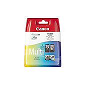 Canon PG-540BK (Black) - (Yield 180 Pages) + Canon CL-541C (Colour) - (Yield 180 Pages) Ink Cartridge (Multi-Pack) with Security