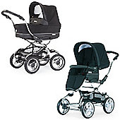 Bebecar Stylo EL Chrome Combination Pram (Black Onyx)