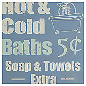 Tesco Bath Hanging Sign